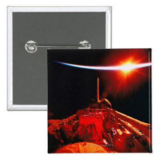 Eclipse from Space 15 Cm Square Badge