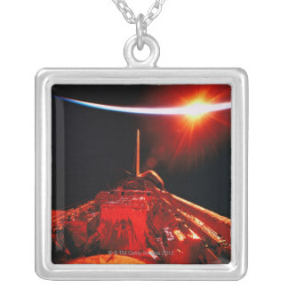 Eclipse from Space Silver Plated Necklace