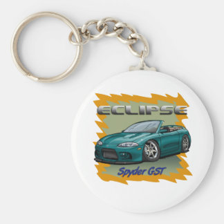 Eclipse_Green Basic Round Button Key Ring
