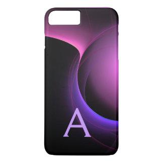 ECLIPSE MONOGRAM Vibrant black purple iPhone 7 Plus Case