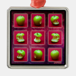 Eclipse Of The Green Star Silver-Colored Square Decoration
