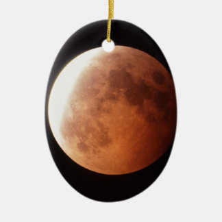 eclipse of the moon ceramic oval decoration