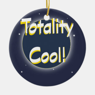 Eclipse Totality Cool! Christmas Ornament
