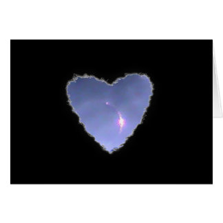 Eclipsed Heart in the Clouds Valentine Love Greeting Card
