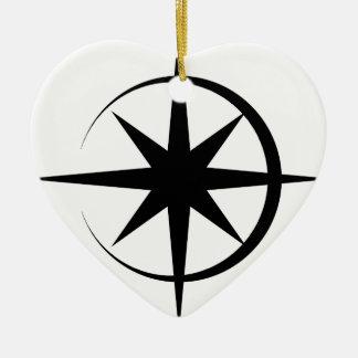 Eclipsed Star Ceramic Heart Decoration