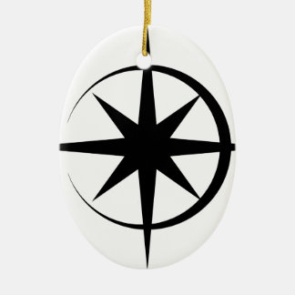 Eclipsed Star Ceramic Oval Decoration