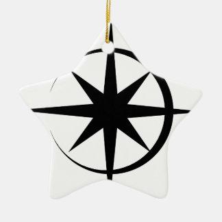 Eclipsed Star Ceramic Star Decoration