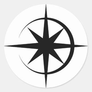 Eclipsed Star Classic Round Sticker