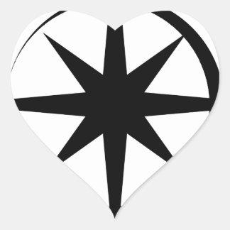 Eclipsed Star Heart Sticker