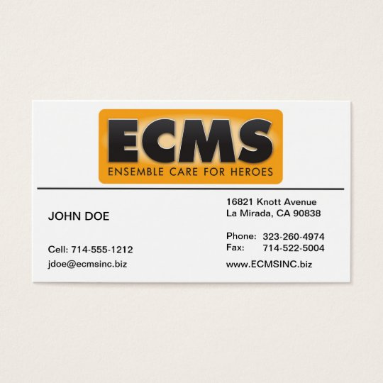 ECMS Business Card Lined