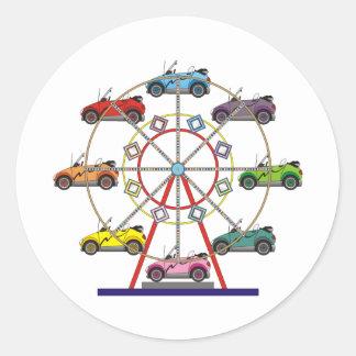 Eco Car Ferris Wheel Classic Round Sticker