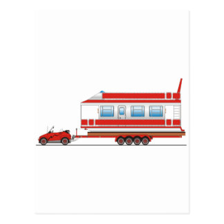 Eco Car House Boat Postcard