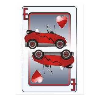 Eco Car Playing Card Hearts