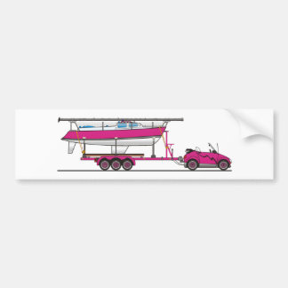 Eco Car Sail Boat Bumper Stickers