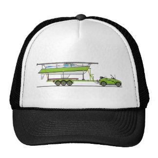 Eco Car Sail Boat Green Cap