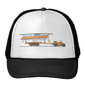 Eco Car Sail Boat Orange Cap