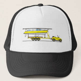 Eco Car Sail Boat Trucker Hat