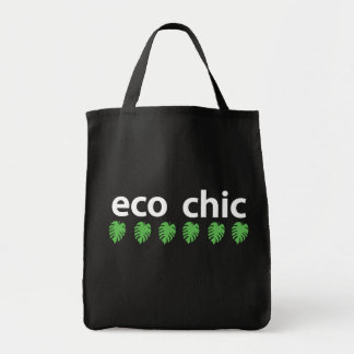 Eco Chic Tote Dark Grocery Tote Bag
