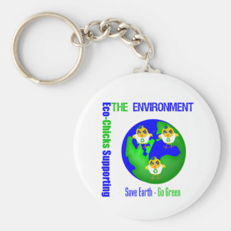Eco-Chicks Supporting The Environment Keychain
