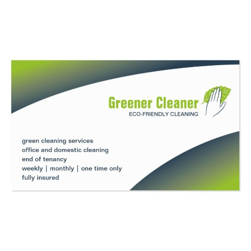 Create Your Own Cleaner Business Cards - Page2