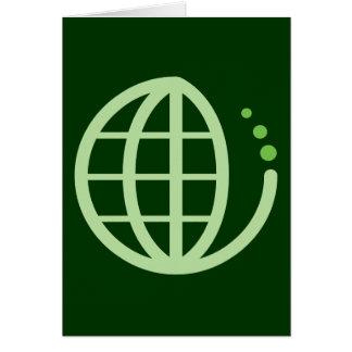 eco earth : go green greeting card