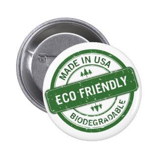 eco friendly 6 cm round badge
