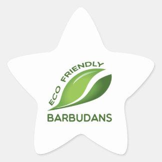 Eco Friendly Barbudans. Star Sticker
