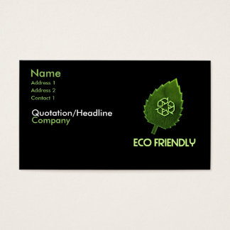 how to create an eco friendly business