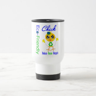 Eco-Friendly Chick Reduce Reuse Recycle Mugs