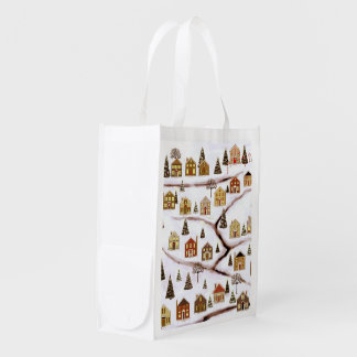 eco-friendly Christmas Reusable Grocery Bag