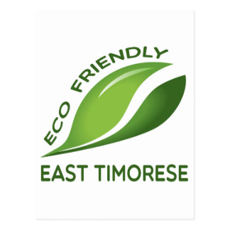 Eco Friendly East Timorese. Postcard