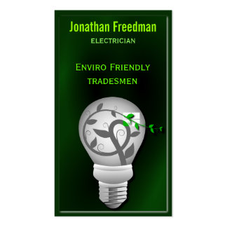 Eco Friendly Electrician Business Cards
