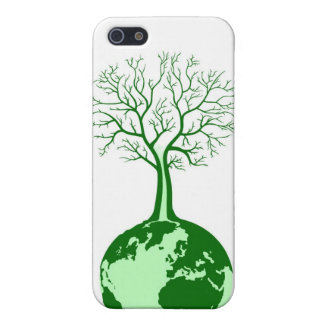 Eco friendly green earth and tree ipod casing iPhone 5/5S cases