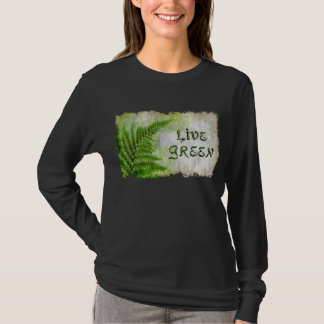 "Eco Friendly ""Live Green"" Art-lovers Shirt"