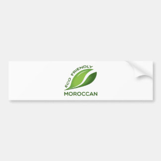 Eco Friendly Moroccan. Bumper Sticker