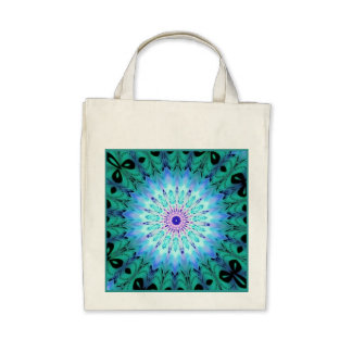 Eco-Friendly Mystic Singing Crystal Kaleidoscope Tote Bags
