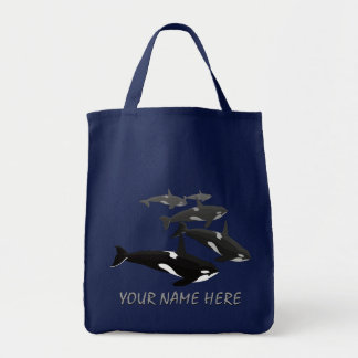 Eco-Friendly Orca Whale Tote Bag Killer Whale Bag