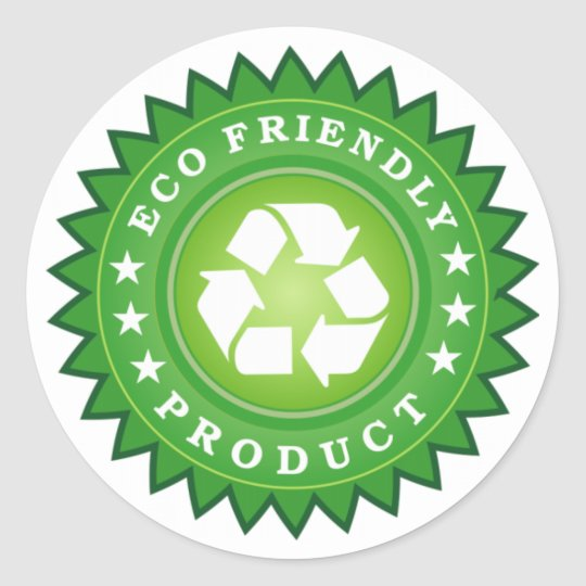 ECO FRIENDLY PRODUCT CLASSIC ROUND STICKER