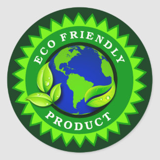 Eco Friendly Product Round Sticker