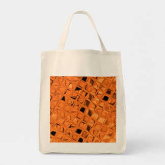 Eco-Friendly Shiny Metallic Orange Reusable Canvas Bags