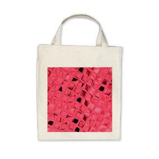 Eco-Friendly Shiny Metallic Red Diamond Reusable Tote Bags