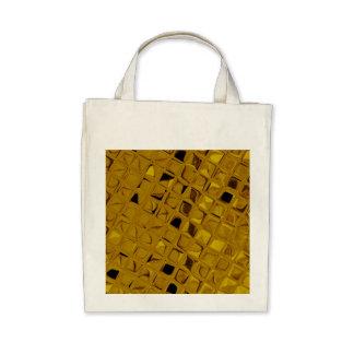 Eco-Friendly Shiny Metallic Yellow Gold Reusable Canvas Bags