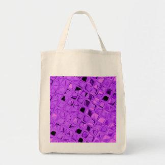 Eco-Friendly Shiny Purple Diamond Reusable Tote Bags