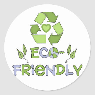 Eco-Friendly T-shirts and Gifts Classic Round Sticker