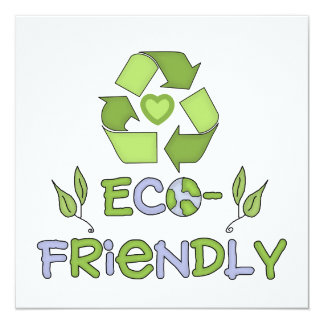 Eco-Friendly Tshirts and Gifts 13 Cm X 13 Cm Square Invitation Card