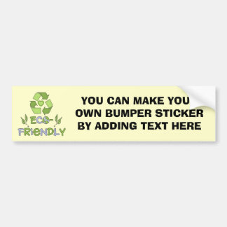 Eco-Friendly Tshirts and Gifts Car Bumper Sticker