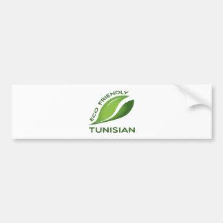 Eco Friendly Tunisian. Bumper Sticker