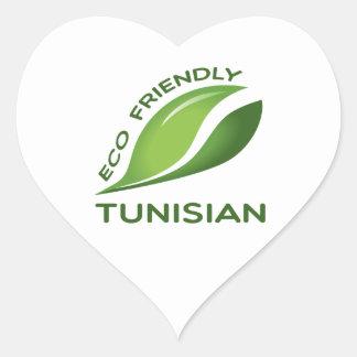 Eco Friendly Tunisian. Heart Sticker