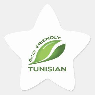 Eco Friendly Tunisian. Star Sticker