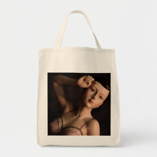 Eco-Friendly Vintage Glamour Girl Reusable Tote Bag